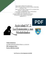 Actividad 2 La Extorción y sus modalidades