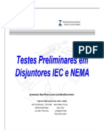 Testes em disjuntores
