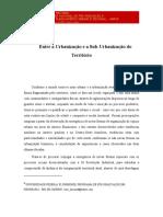 LIMONAD, Ester. Entre a urbanização e sub-urbanização do território.pdf