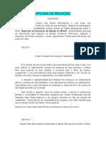 OFICINA DE REDAÇÃ1