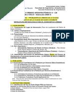 C8.- ESTRUCTURA METODOLÓGICA PARA LA CARACTERIZACION URBANA DEL SECTOR
