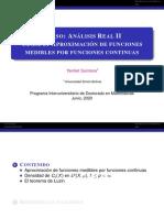 Clase-3 Aproximación de funciones medibles por funciones continuas