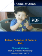 Enteral Nutrition of Preterm Baby