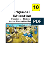 Physical Education 10 WEEK 2