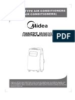 Manual portable aircond midea