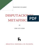 Suárez, Francisco. Disputaciones Metafísicas XVI-XXIII. Edición Bilingüe. Madrid Gredos, 1961. Vol. 3.pdf
