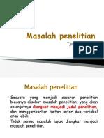 4. Masalah penelitian TK 4