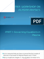 Fluid equations in Plasma
