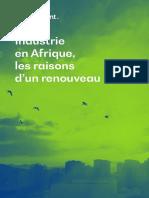 2020 Rapport Bearing Point - Industrie en Afrique - Les raisons d'un renouveau
