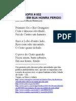 PHILOSOFIX # 032 – CRATO EM SUA HONRA FERIDO