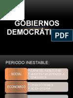 Gobiernos democráticos