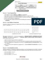 Examen Sécurité Informatique, univ Oum El Bouaghi, 2019