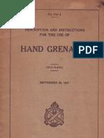 US MK I Hand Grenade Manual 1917