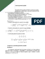 Calculul coeficientului total de pierderi de fluid