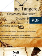 CHAPTER 10- Noli Me Tangere, Continuing Relevance