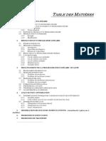 Tables des Matières méthodes d'optimisation de production