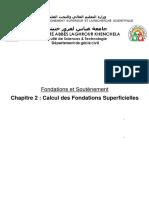 Chapitre 2 - Calcul des fondations superficielles
