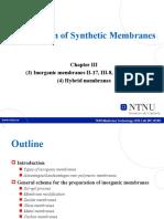 2-2 Preparation of membranes- inorganic membranes