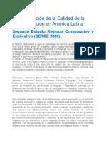 Evaluación de la Calidad de la Educación en América Latina