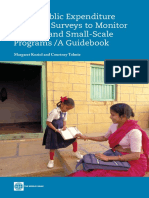 Using Public Expenditure Tracking Surveys to Monitor Projects and Small-Scale Programs