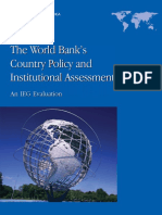 The World Bank's Country Policy and Institutional Assessment