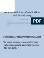 NPA_s _ Definition, Classification and Provisioning