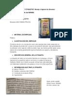 TIPO DE PRODUCTO MAYONESA