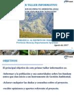 taller informativo Alpacocha para el distrito de curahuasi
