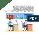 Evidencia 3 Foro    Temática Importancia de las Buenas condiciones ergonómicas en el trabajo