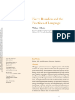 Hanks - 2005 - PIERRE BOURDIEU AND THE PRACTICES OF LANGUAGE-annotated