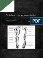 Peripheral nerve examination