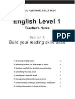 English Level 1_Section a Teacher Notes