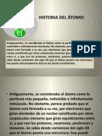 HISTORIA DEL ÁTOMO
