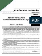 olhonavaga • PROVA • CESPE • MPU • Técnico de Apoio Especializado - Segurança
