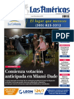DIARIO LAS AMÉRICAS Portada digital del lunes 19 de octubre de 2020