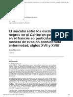 Malvido, El suicidio esclavo