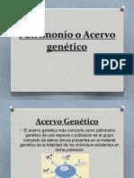 Patrimonio o Acervo genético.pptx