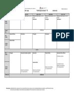 Planificação semanal por preencher
