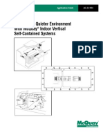 Achieving A Quieter Environment With McQuay® Indoor Vertical Self-Contained Systems, Application Guide AG 31-001, McQuay International (2001)