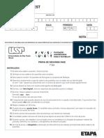 Simulado FUVEST - 2ª fase - PRIMEIRO DIA - 2020