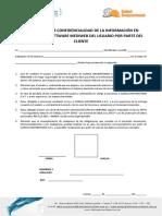 COMPROMISO DE CONFIDENCIALIDAD Y USO DE LA INFORMACION CLINICA UNIVERSITARIA