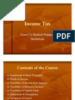 Income Tax- SPA 2010