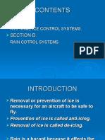 AIRFRAME ICE AND RAIN CONTROL