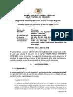 Proceso contra la contralora de Sincelejo-13/03/2020