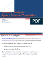 2019_Lecture 09_Syntax Directed Translation
