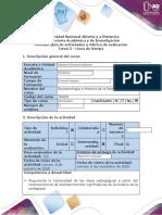 Guía de actividades y Rúbrica de evaluación - Tarea 3 - Línea de tiempo..