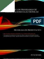 Origen de los programas de presentaciones electrónicas