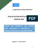 PLAN_DE_ACCION_INSTITUCIONAL_VIGENCIA_2019 MAgricultura