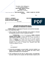 sample motion for execution and issuance of warrant of arrest