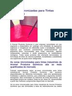 Ceras Micronizadas para Tintas Industriais